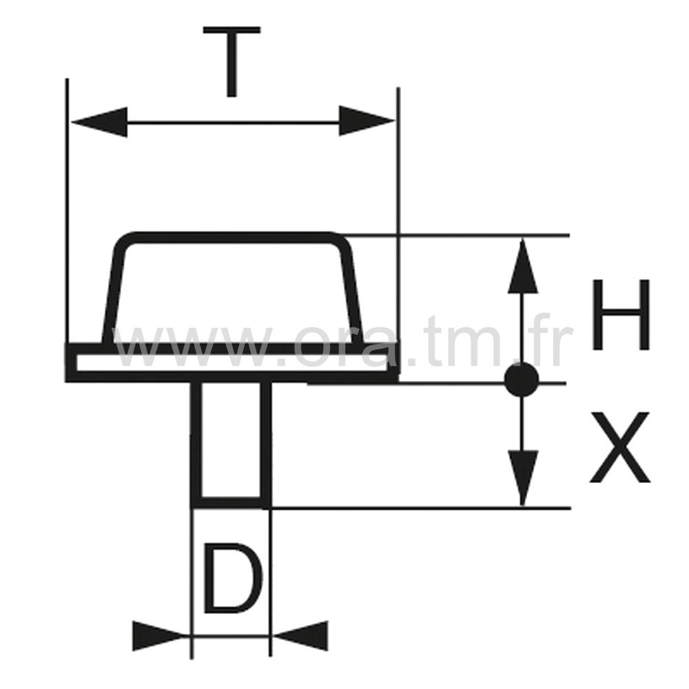 BUP15 - BUTEE PARE-CHOCS - FIXATION A TENON