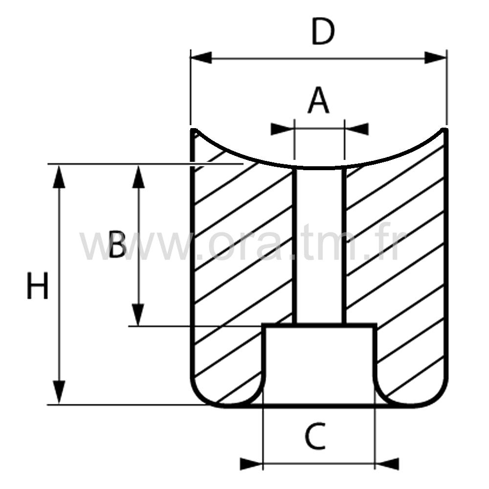 BUTP - BUTEE PARE-CHOCS - FIXATION A VISSER