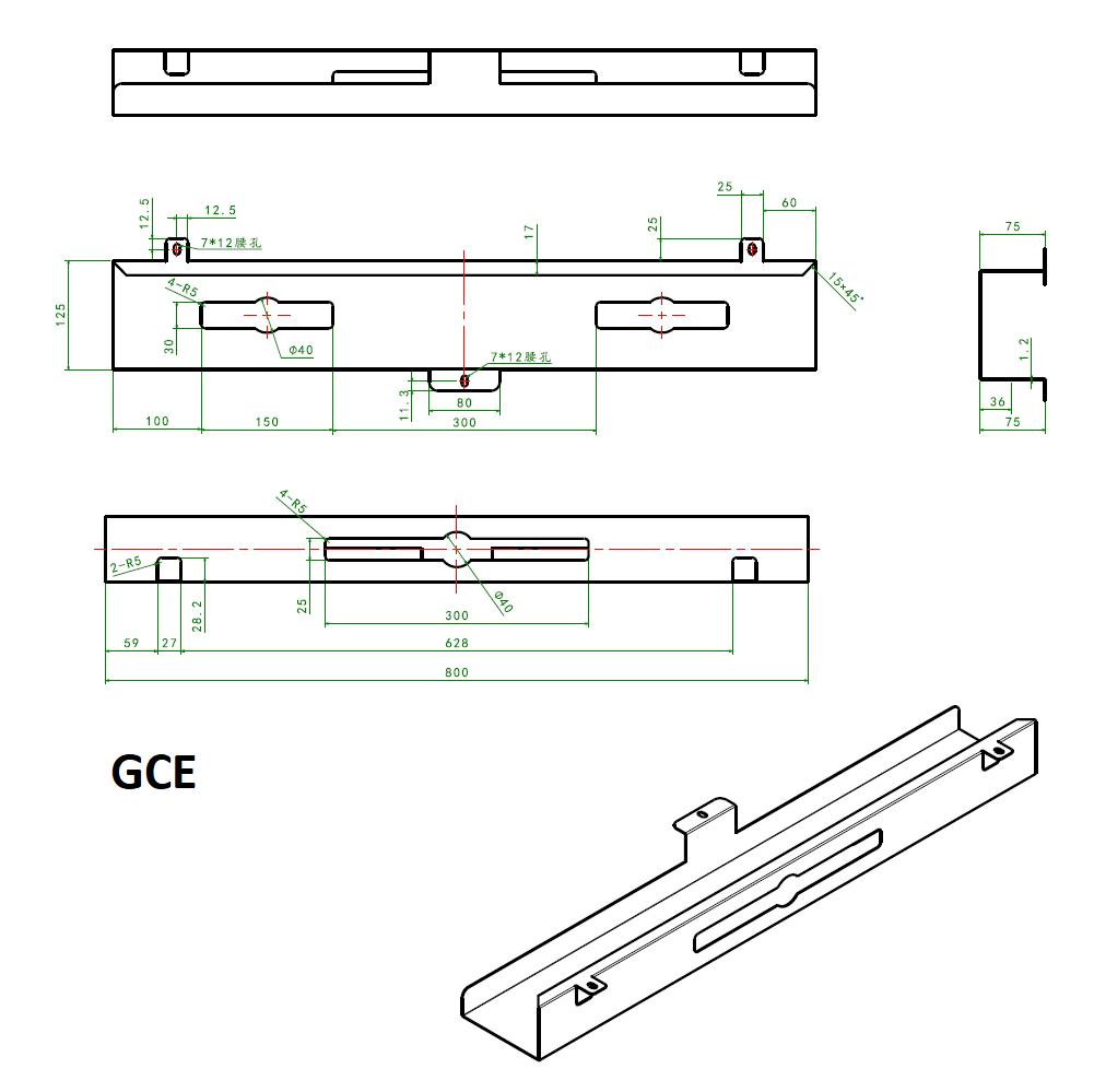 GCE - ACCESSOIRES BUREAUTIQUE - GOULOTTE CACHE CABLES