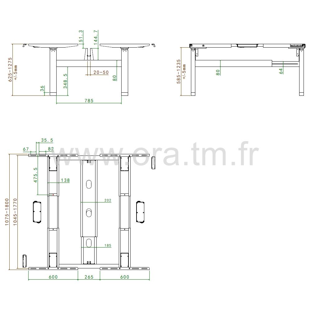 MOTOR4F - SYSTEME TABLE REGLABLE - ELECTRIQUE 4 MOTEURS