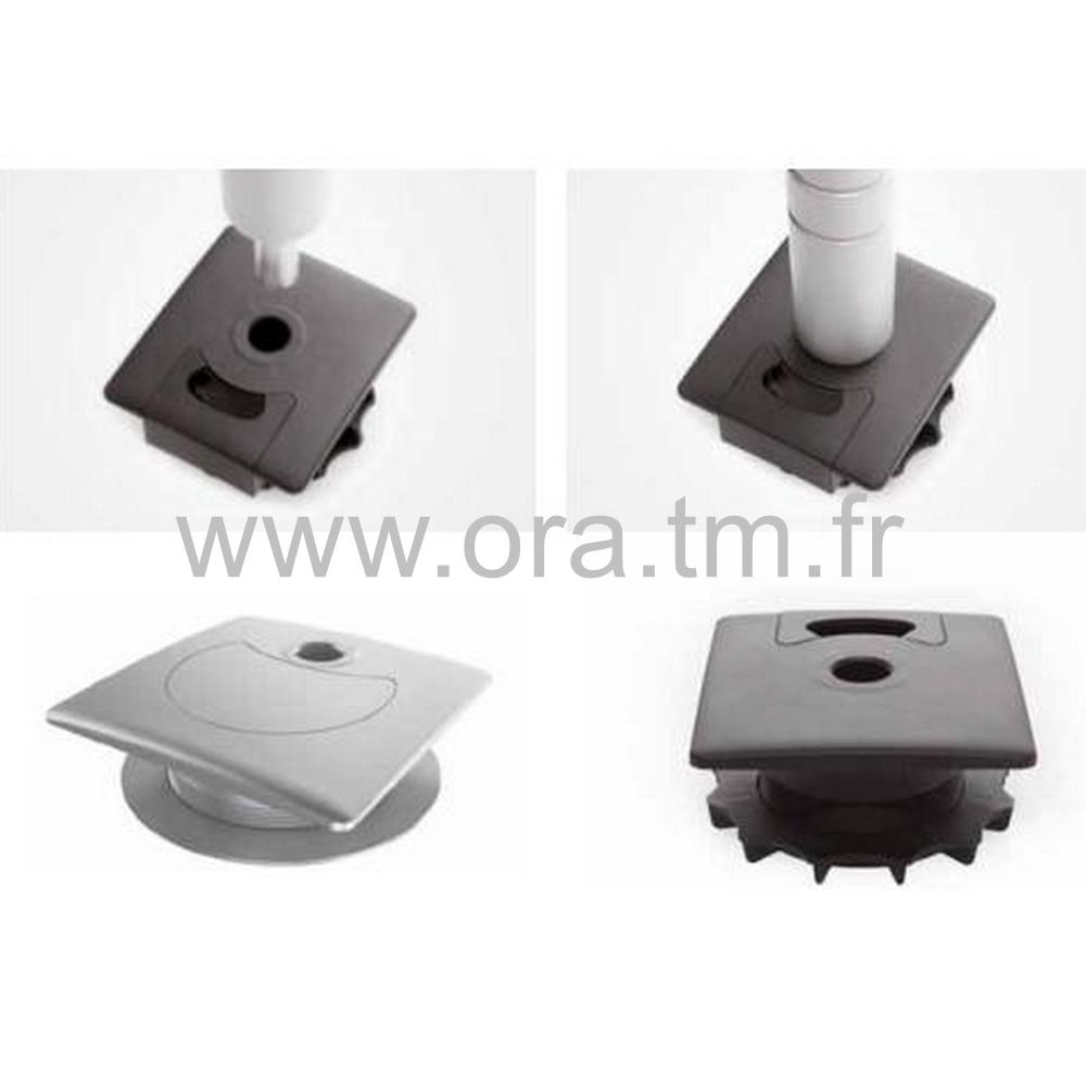 PKR - BOITIER PASSE CABLE - SUPPORT TUBE DIAMETRE 16