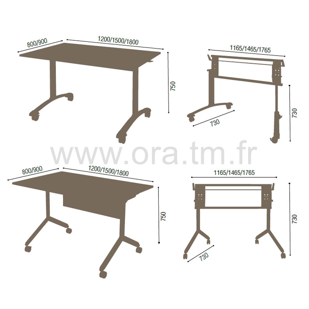 TIPER - SYSTEME TABLE BASCULANTE - PIETEMENT TUBULAIRE