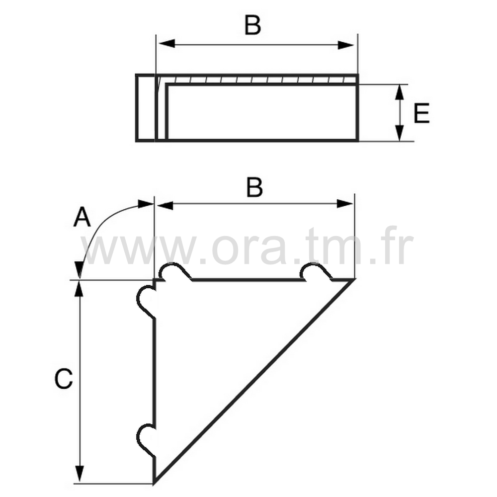 PRO3R - PROTECTION EMBALLAGE - ANGLE DROIT 3 FACES