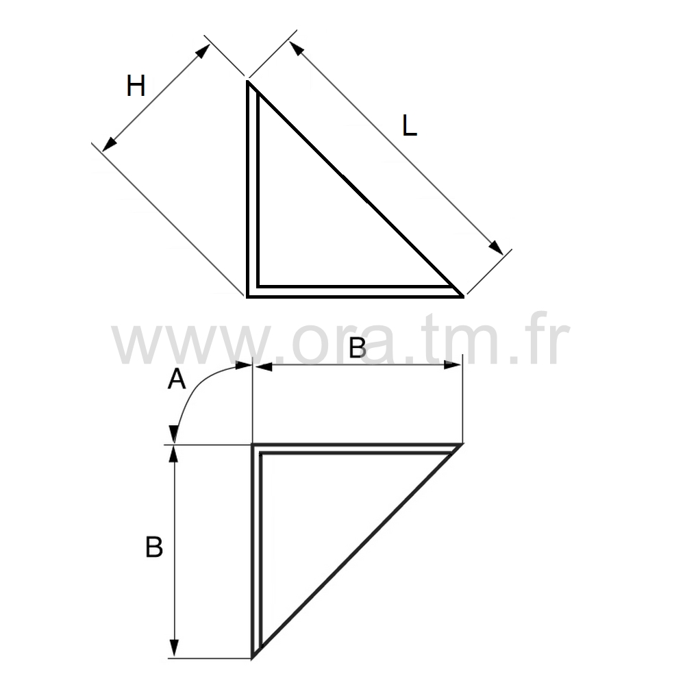PROA - PROTECTION EMBALLAGE - COIN TRIANGULAIRE