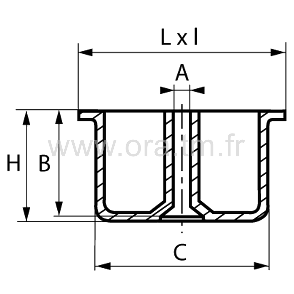 GLA - PIED A AGRAFFER - BASE CYLINDRIQUE