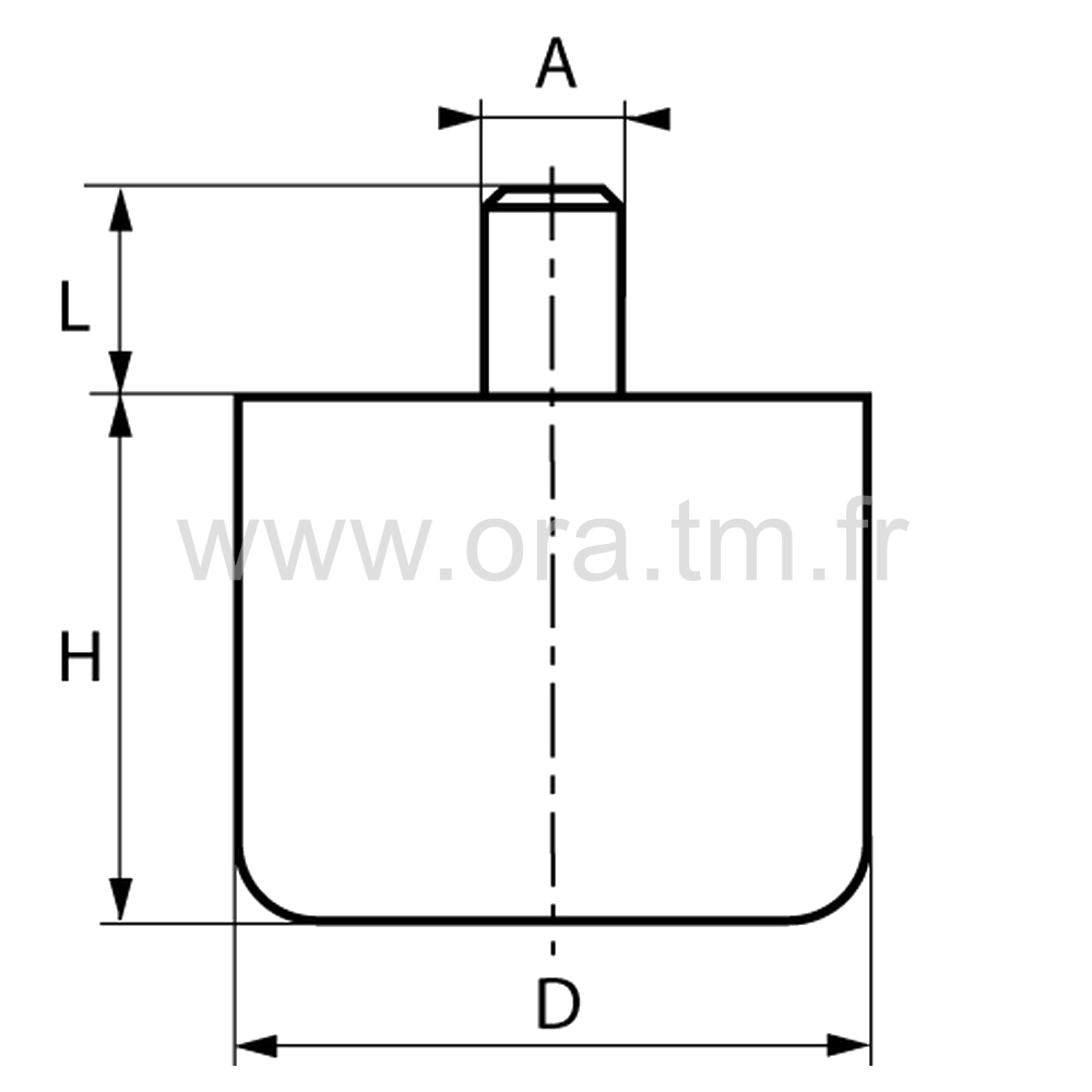 GLD - PIED A DOUILLE - BASE CYLINDRIQUE