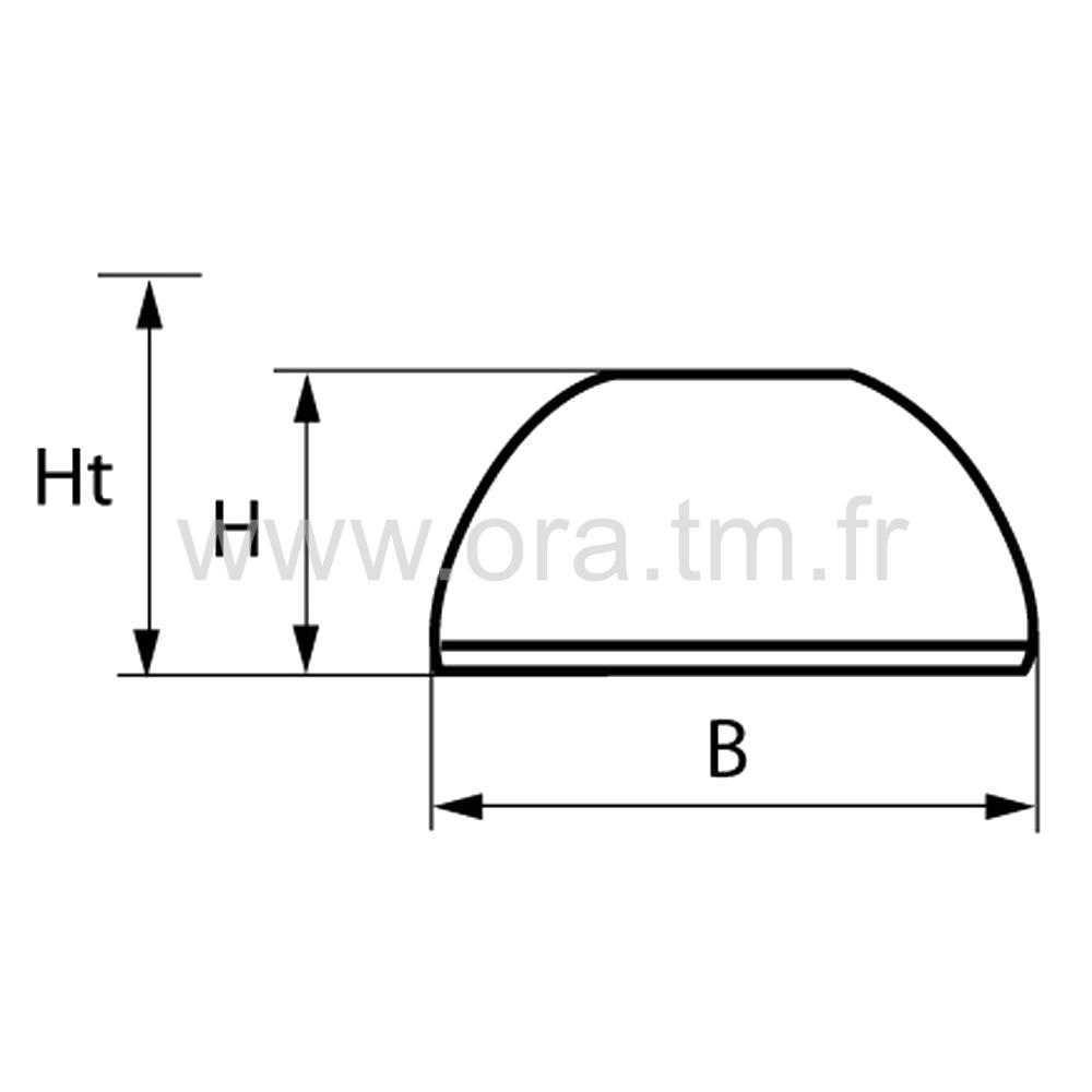 GLIP25 - PATIN GLISSEUR - FIXATION PIVOT MOBILE