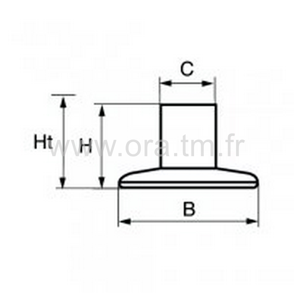 GLIP30 - PATIN GLISSEUR - FIXATION PIVOT MOBILE