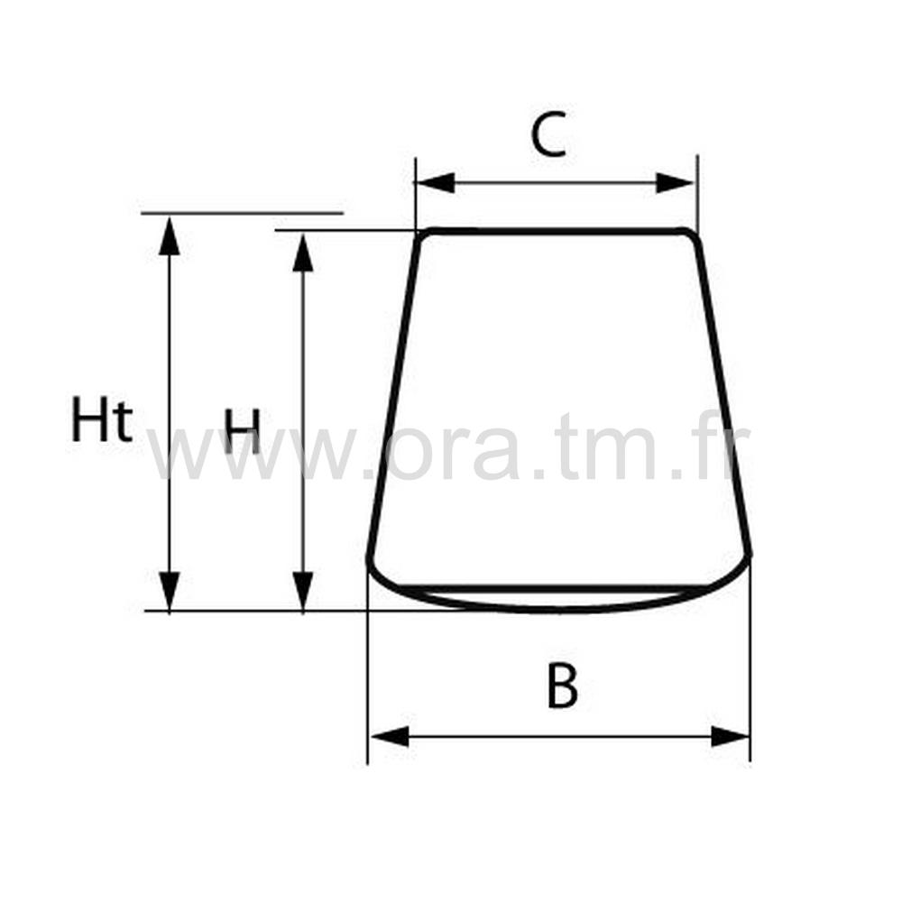 GLIS35 - PATIN GLISSEUR - FIXATION PIVOT MOBILE