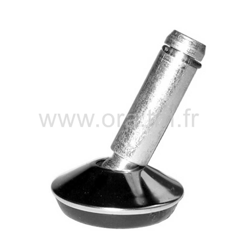 VCLP - PATIN ORIENTABLE A CLIPS - BASE CAPOT METAL