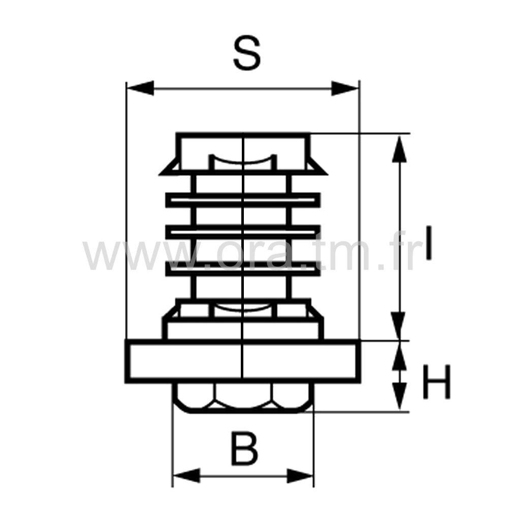 IVQR - INSERT VERIN - SECTION QUART DE ROND