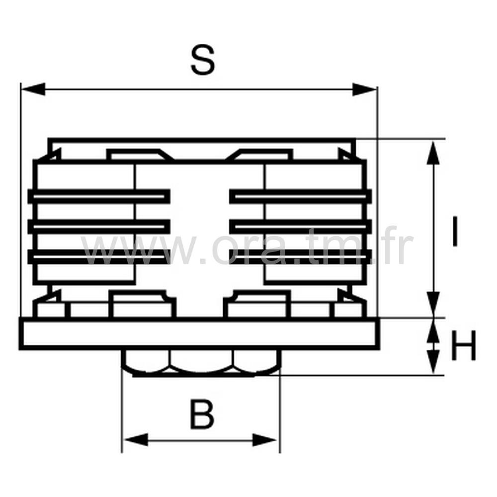 IVR - INSERT VERIN - SECTION RECTANGULAIRE