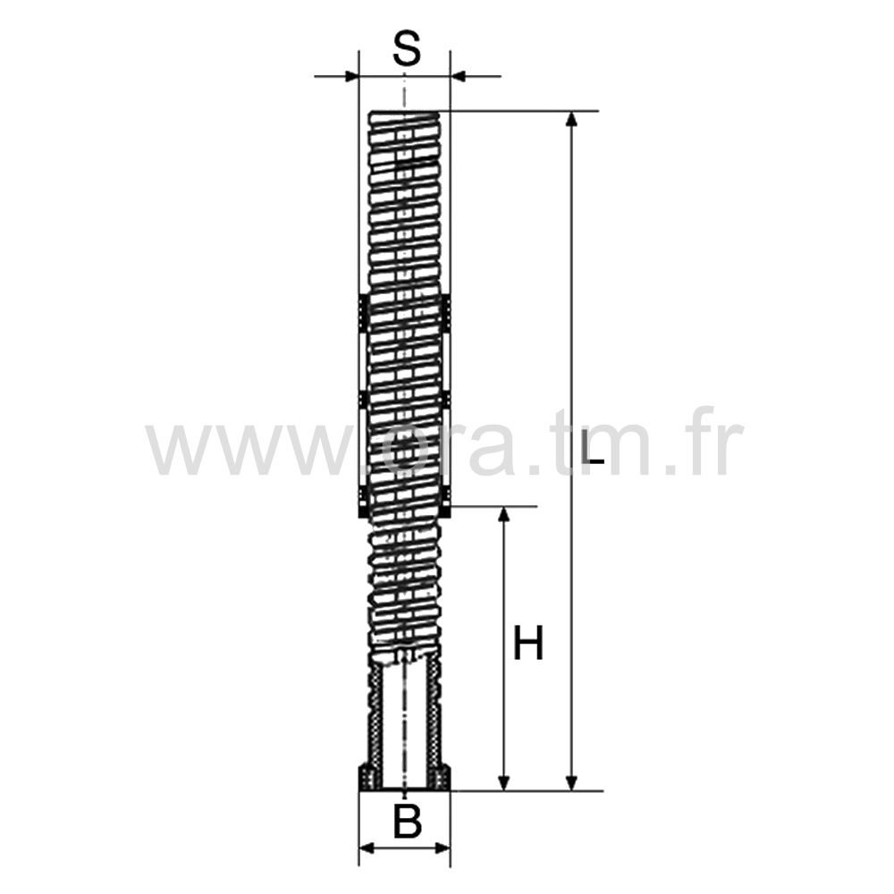 IVS2 - INSERT VERIN - SECTION CYLINDRIQUE