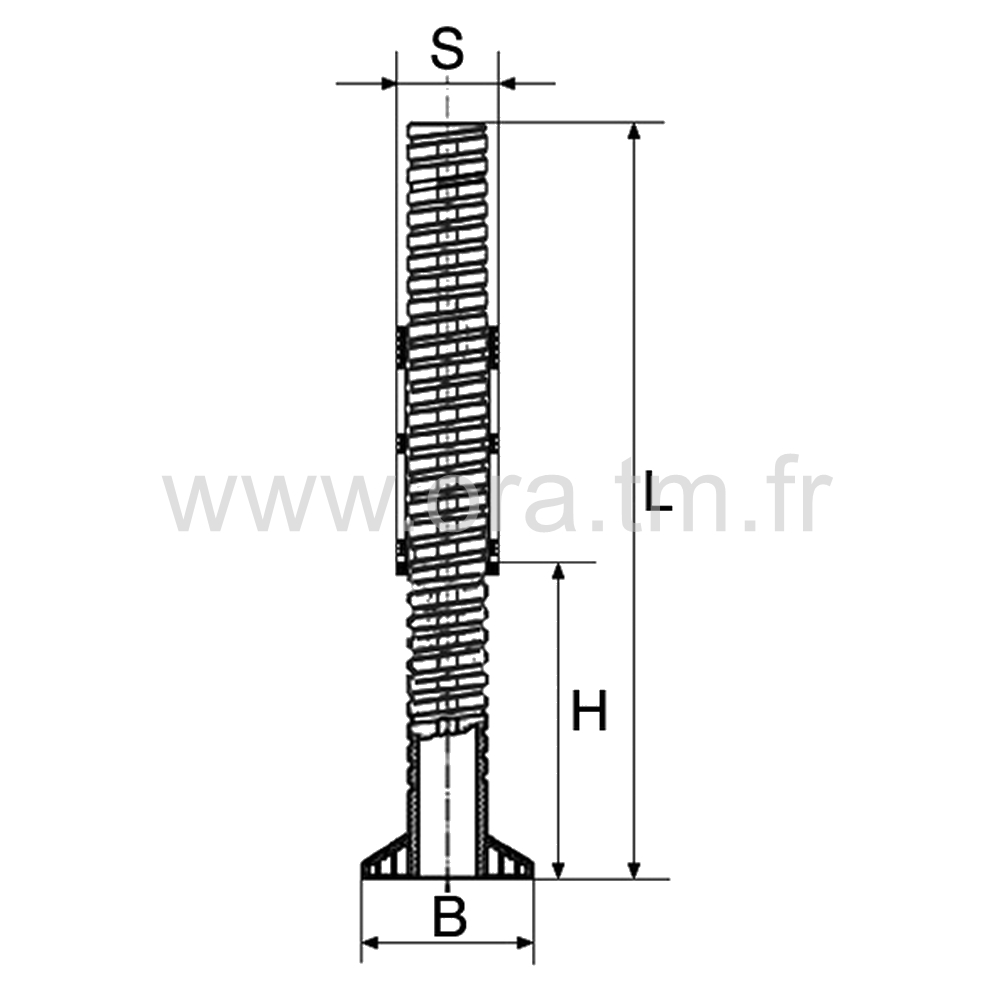 IVSC - INSERT VERIN - SECTION CARREE