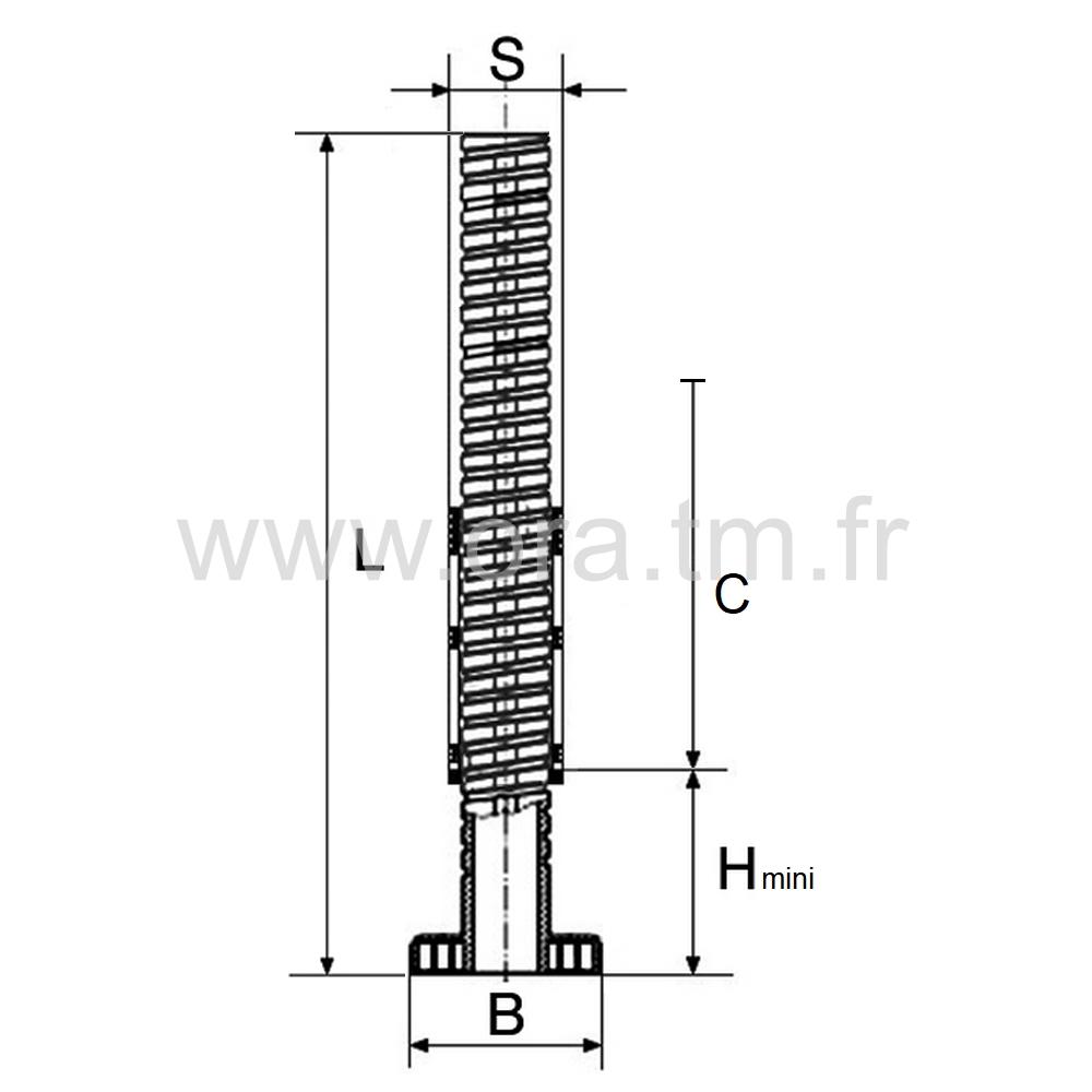 IVSC4 - INSERT VERIN - SECTION CARREE