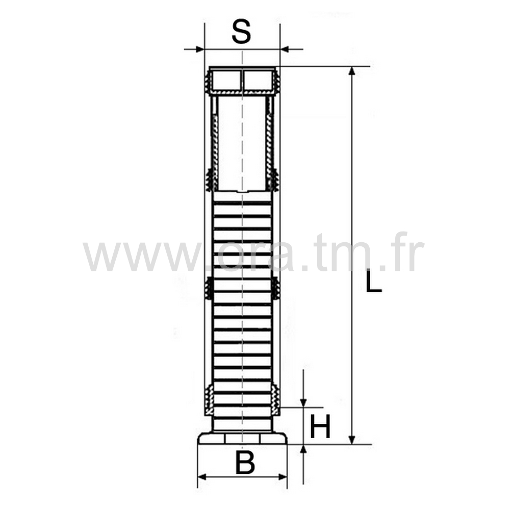 IVSLH - INSERT VERIN - SECTION CYLINDRIQUE