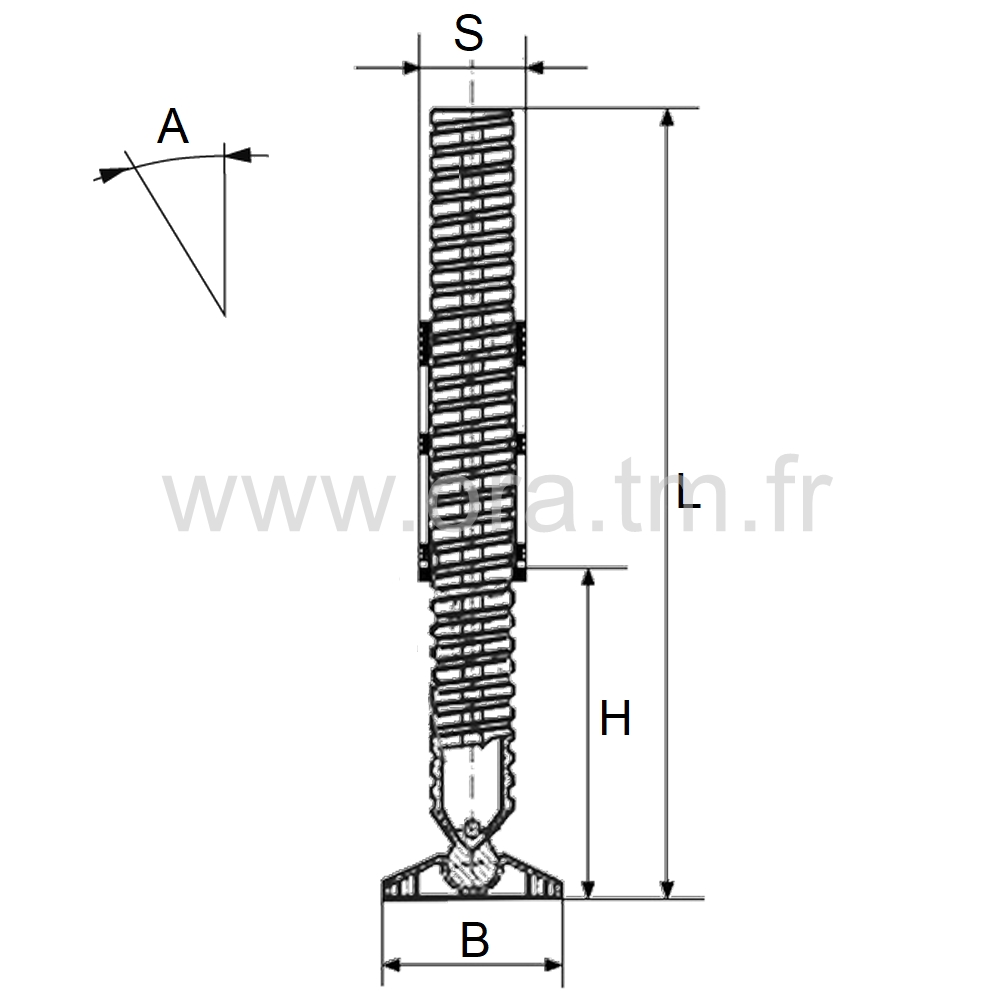 IVSO - INSERT VERIN ORIENTABLE - SECTION CYLINDRIQUE