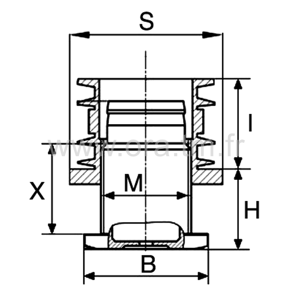 IVZ - INSERT VERIN - SECTION CYLINDRIQUE