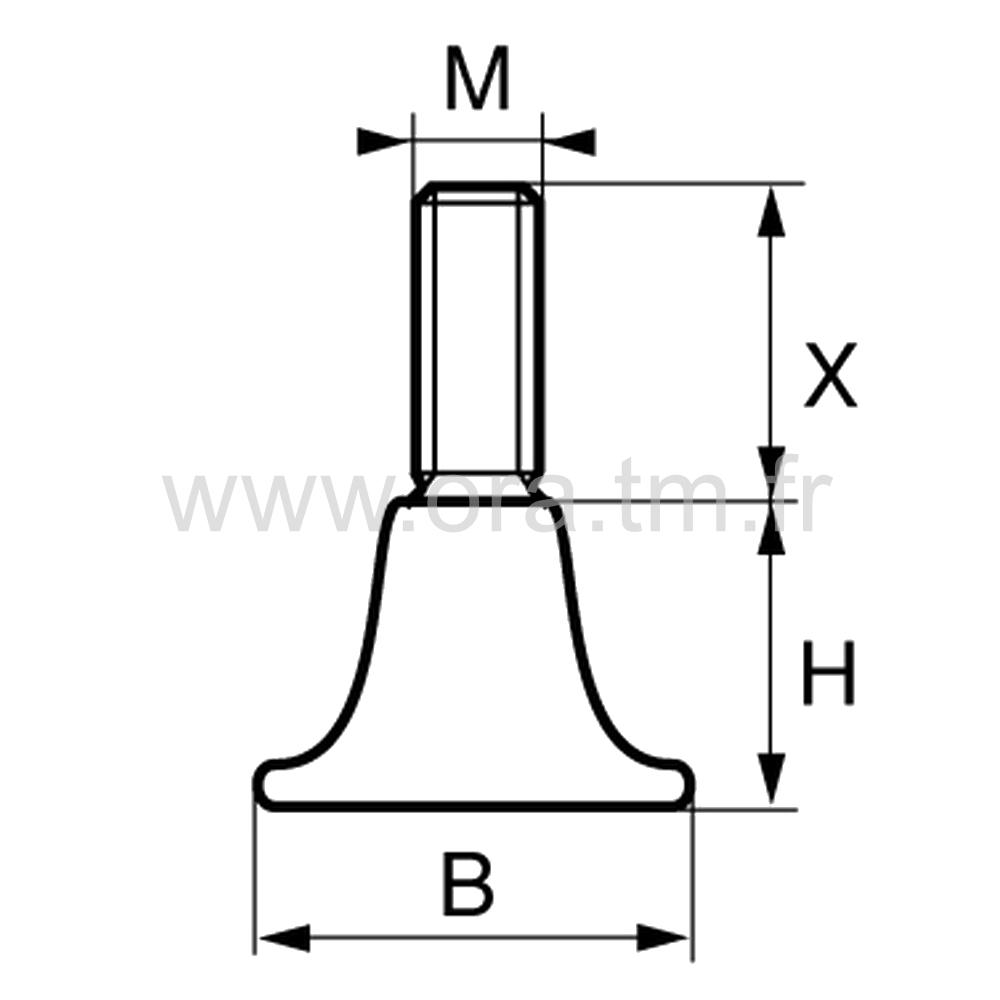 VAT - VERIN RIGIDE - BASE CYLINDRIQUE