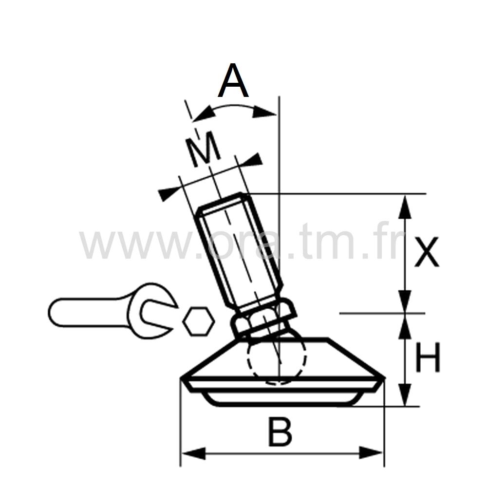 VCL - VERIN ORIENTABLE - BASE CAPOT METAL