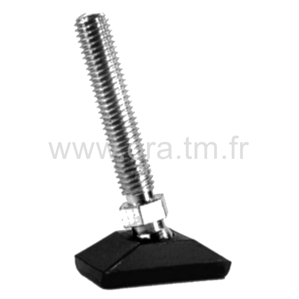 VCR - VERIN ORIENTABLE - BASE RECTANGULAIRE