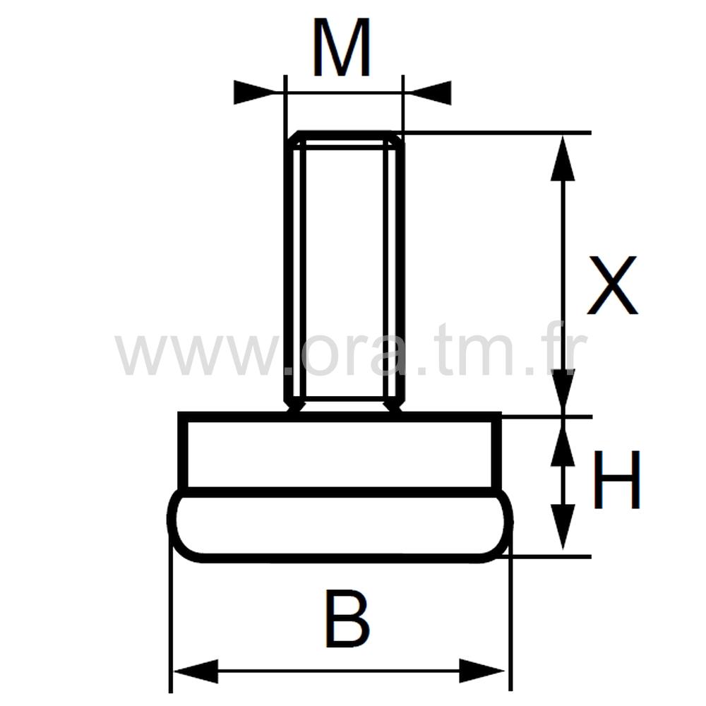 VGM - VERIN RIGIDE - BASE GLISSEUR METAL