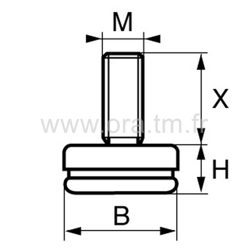 VGMC - VERIN RIGIDE - BASE CAPOT METAL