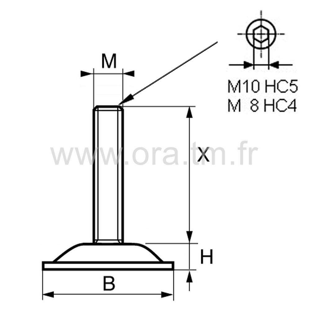 VMD - VERIN GYROSCOPIQUE - BASE CYLINDRIQUE METAL
