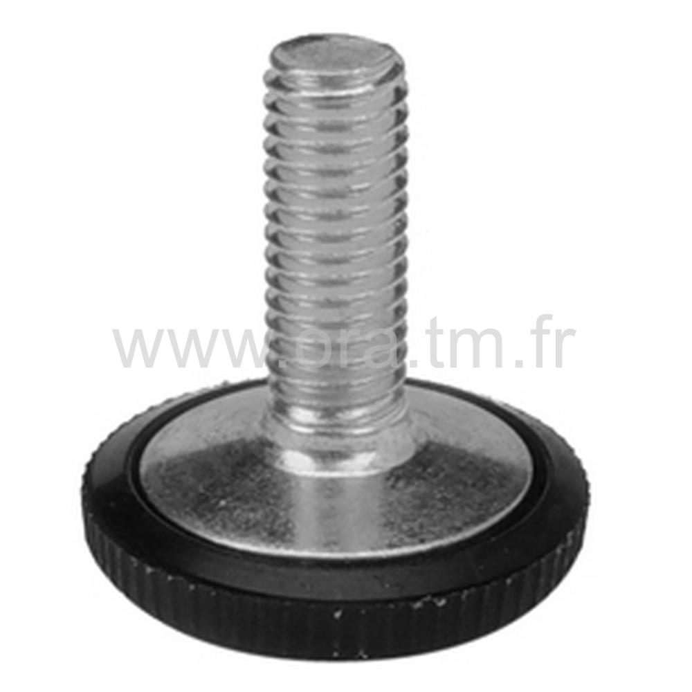 VPC - VERIN RIGIDE - BASE CYLINDRIQUE MOLETEE