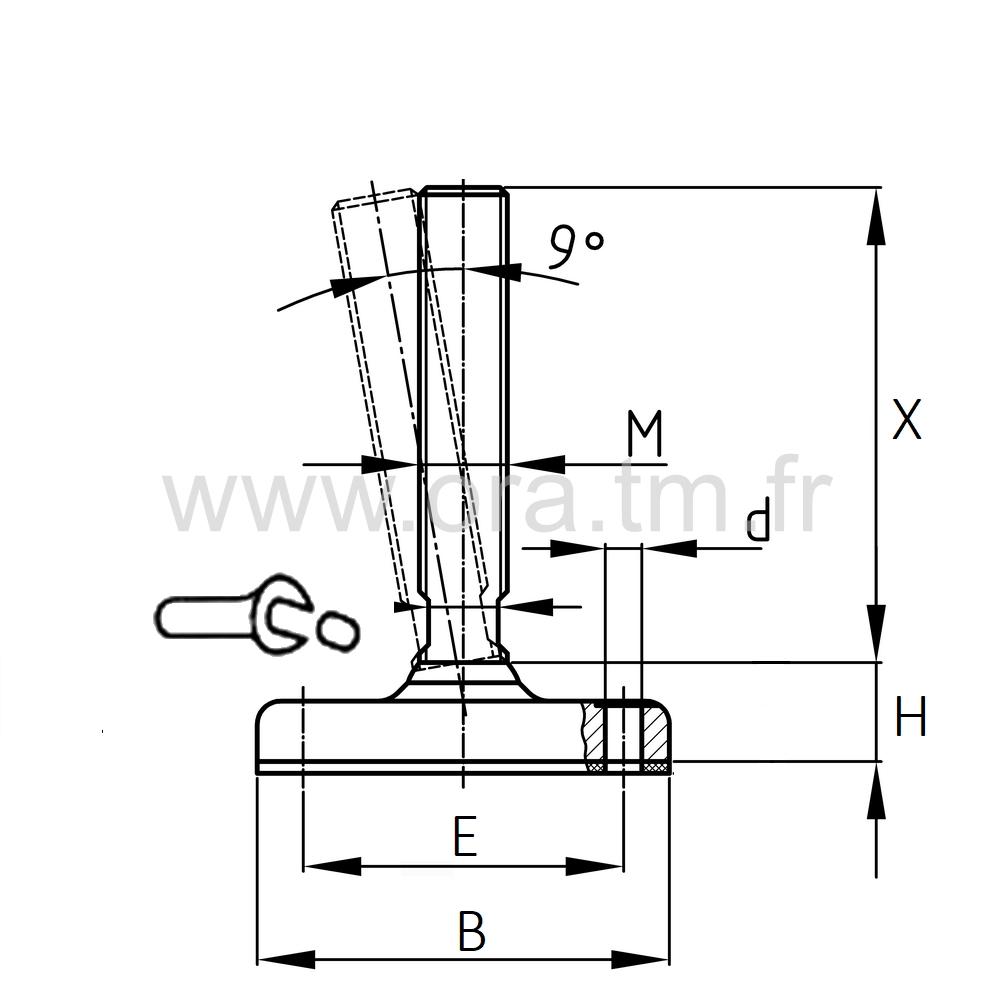 VSF - VERIN MACHINE - BASE CYLINDRIQUE METAL