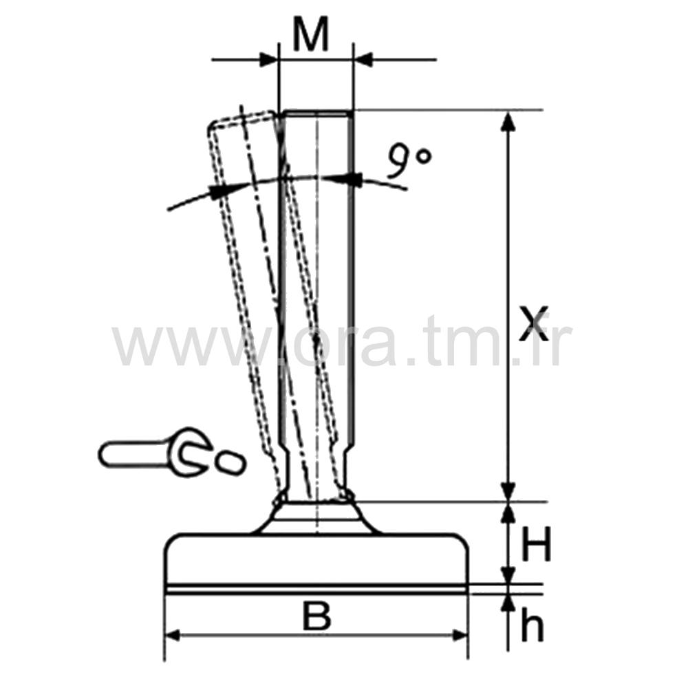 VSL - VERIN MACHINE - BASE CYLINDRIQUE METAL