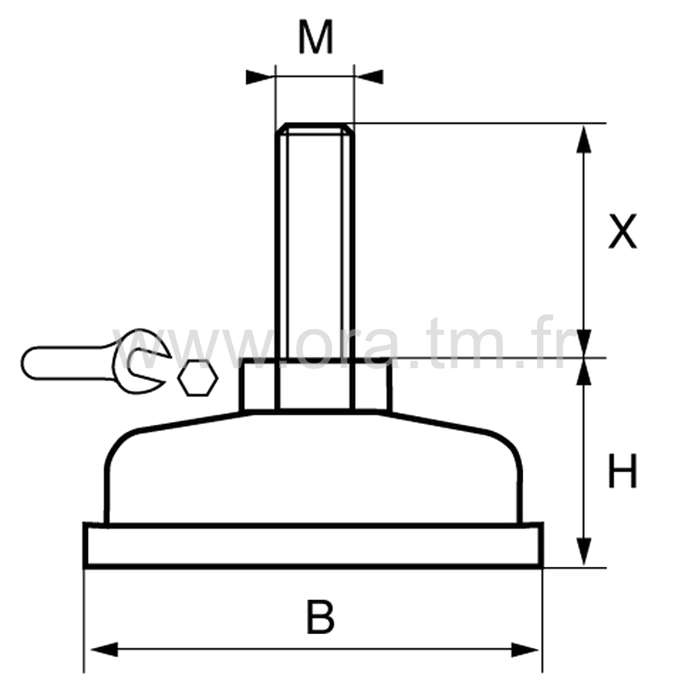 VSMP - VERIN MACHINE - BASE CYLINDRIQUE