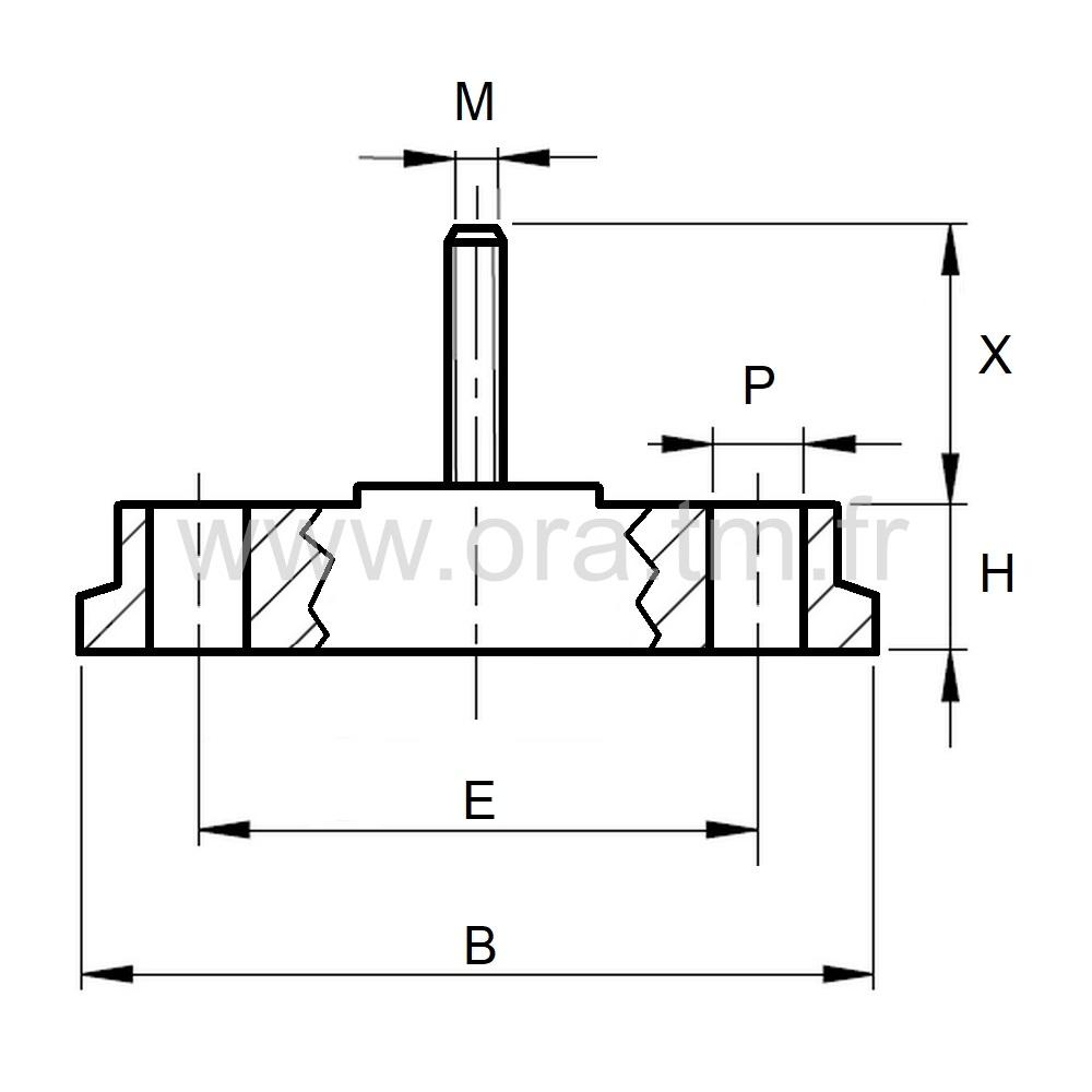 VTOFIX - VERIN RIGIDE - BASE A FIXER