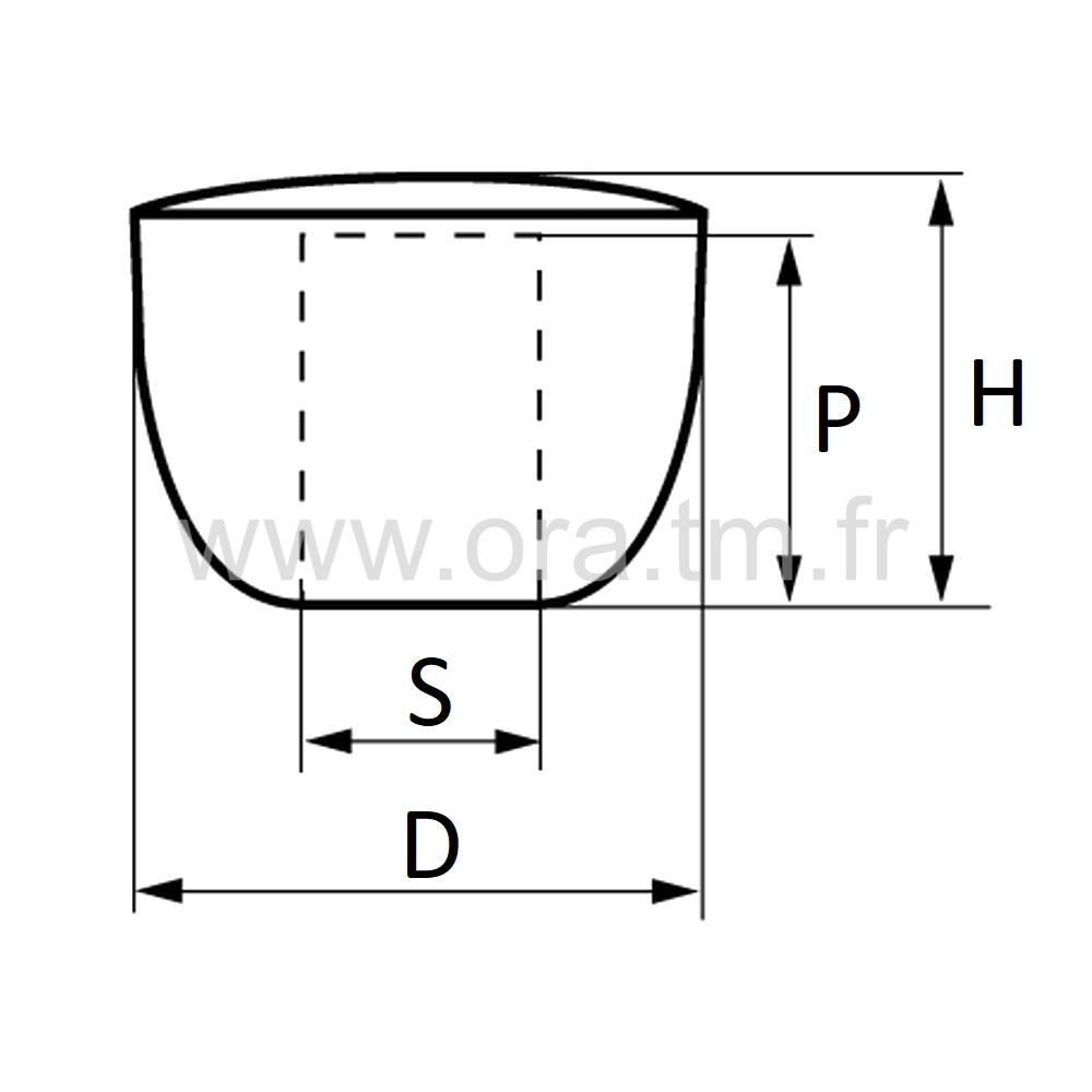 PATC - POIGNEE BOULE - CAPOT ACIER CHROME