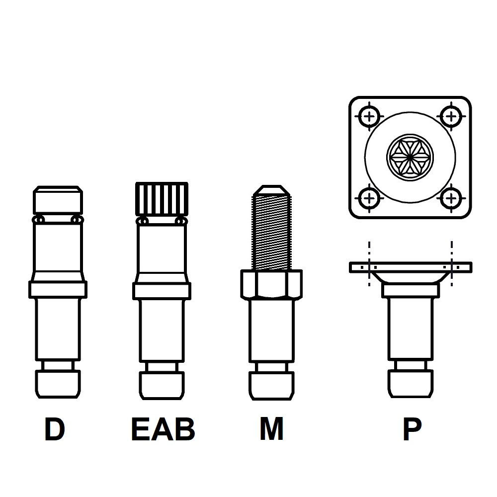 G1029 - FIXATION PIVOTANTE - ROULETTES & PATINS