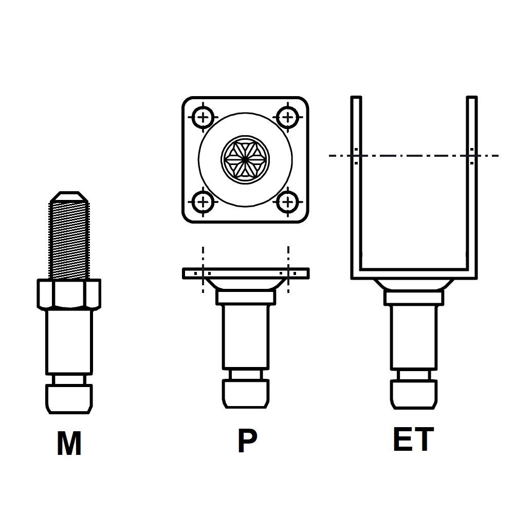 G6L20 - FIXATION PIVOTANTE - ROULETTES & PATINS