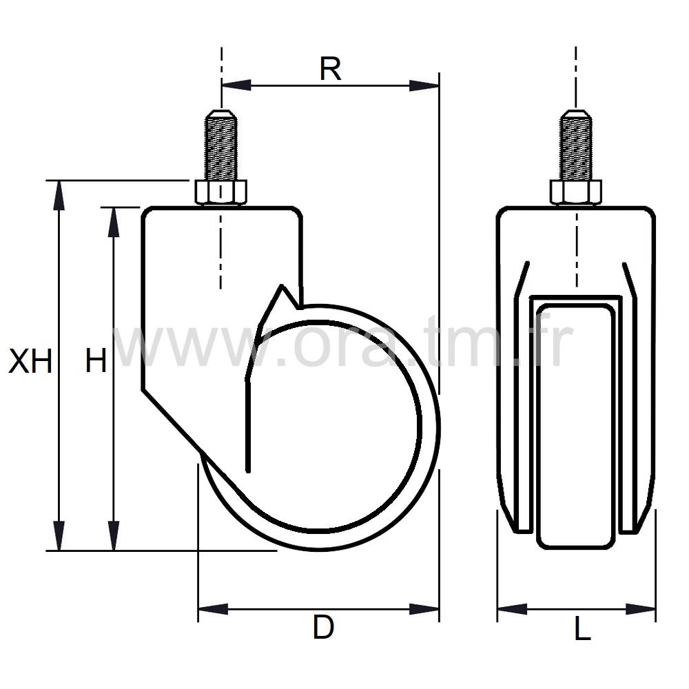 ROBUS - ROULETTE MONO GALET - ROULEMENT LIBRE
