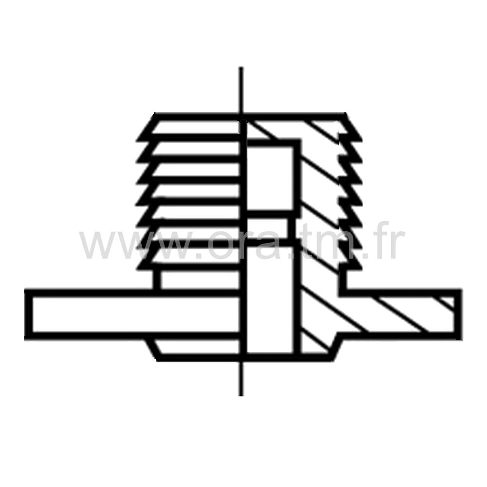 ROLER - ROULETTE DOUBLE GALET - ROULEMENT LIBRE & FREINE