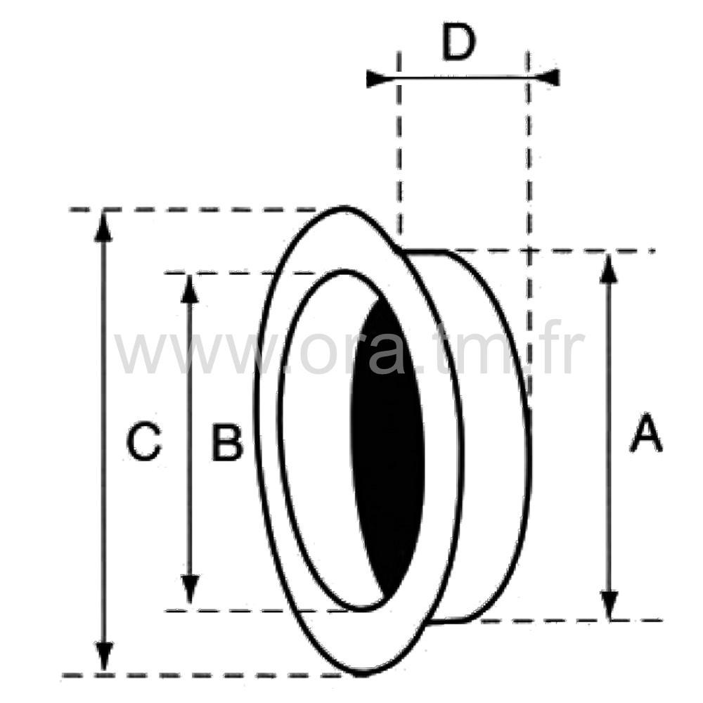 PEC - POIGNEE A ENCASTRER - SECTION CYLINDRIQUE