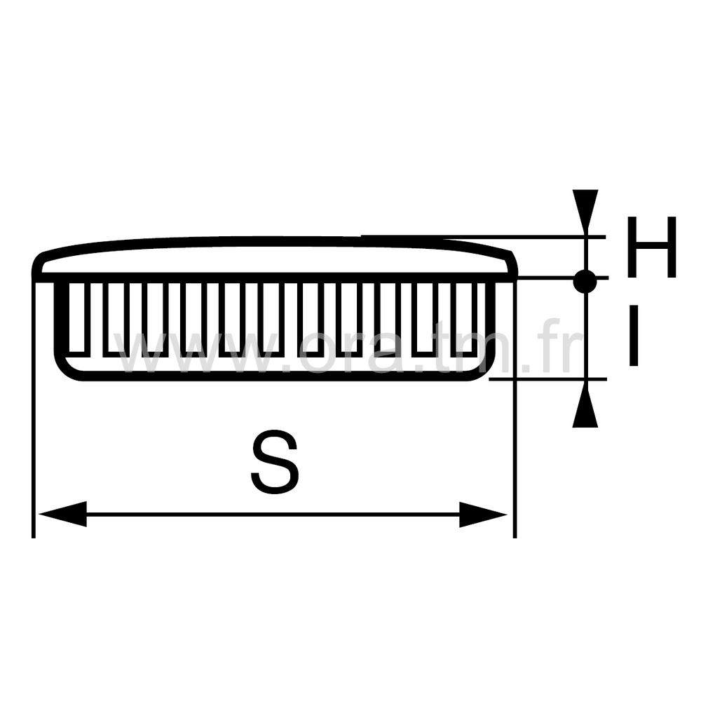 CTAR - COUVRE TUBE ENJOLIVEUR - SECTION RECTANGULAIRE