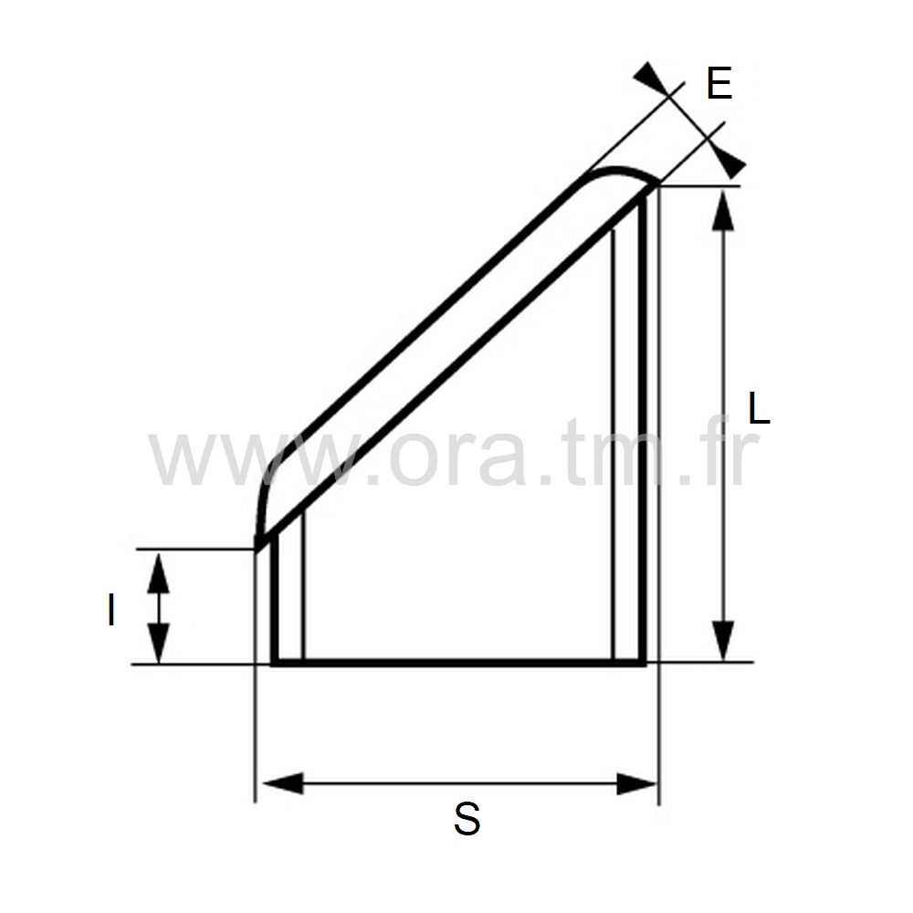 CTBR - EMBOUT INCLINE A INSERER - SECTION RECTANGULAIRE