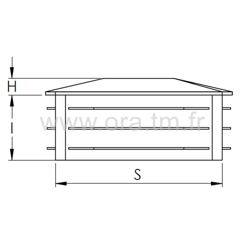 CTCS - COUVRE TUBE A AILETTES - SECTION CARREE