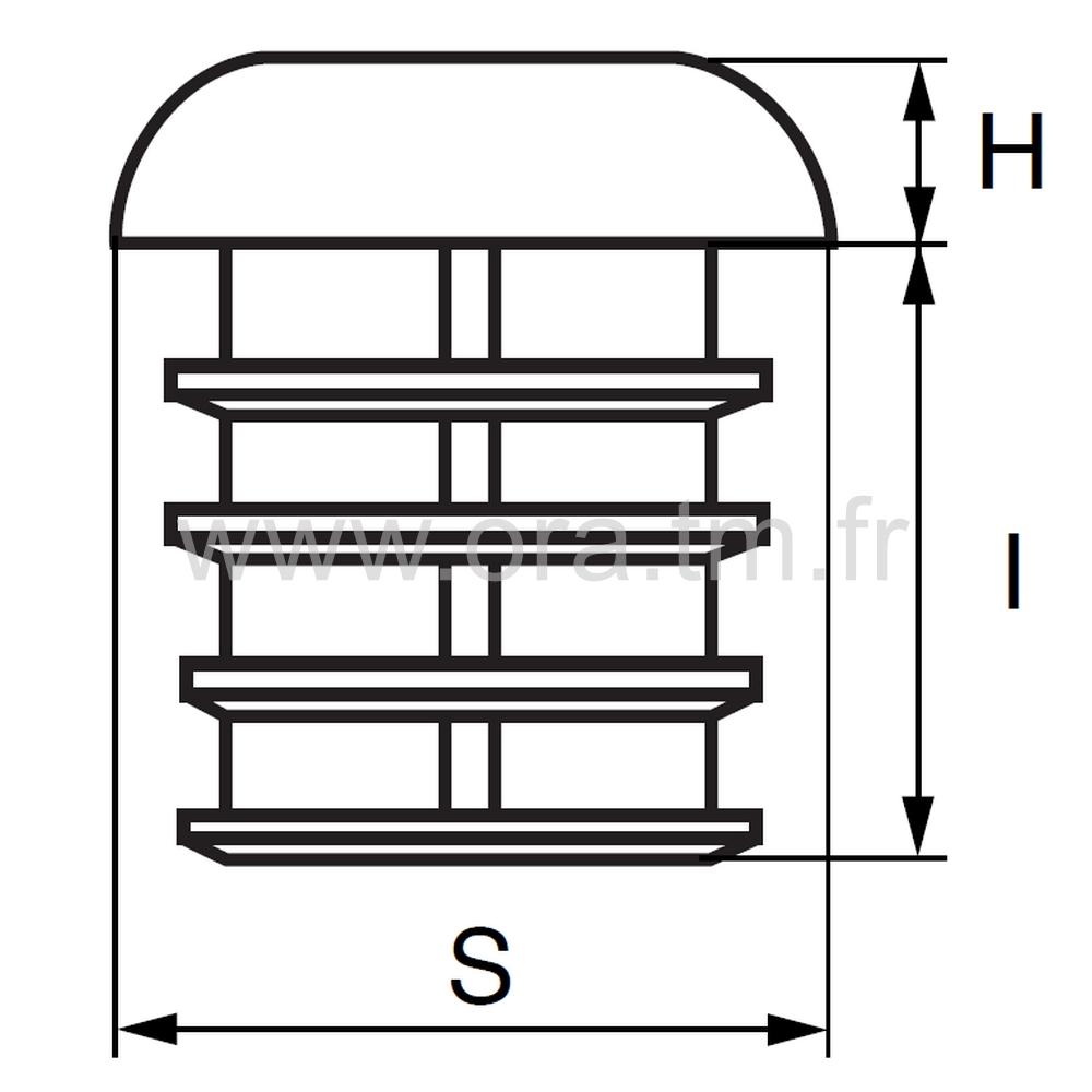 CTEB - COUVRE TUBE A AILETTES - SECTION ELLIPTIQUE