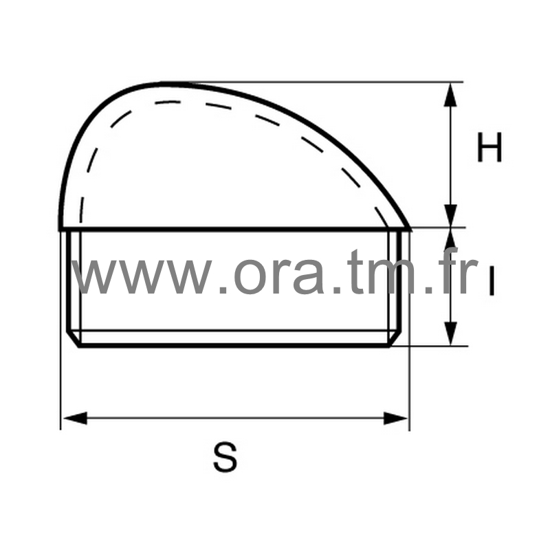 CTS - COUVRE TUBE ENJOLIVEUR - SECTION RECTANGULAIRE