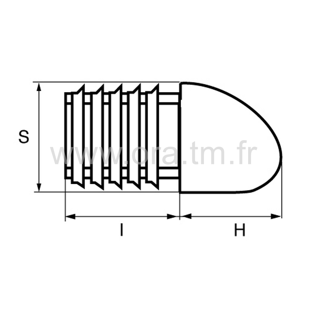 CTSA - COUVRE TUBE A AILETTES - SECTION RECTANGULAIRE