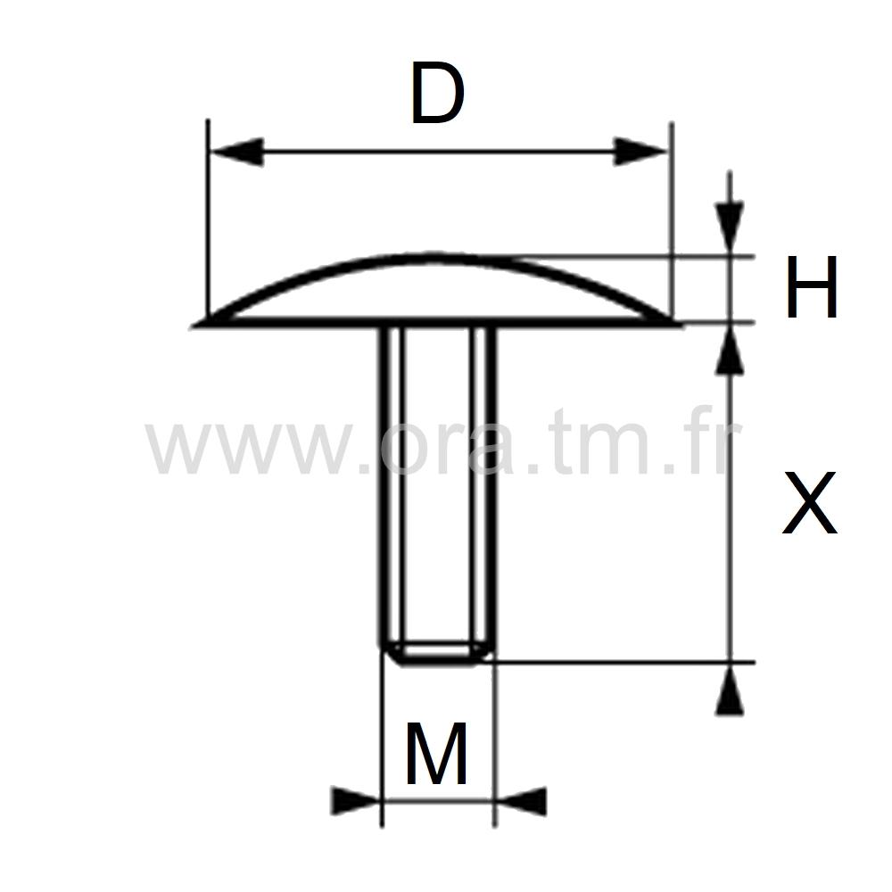 CTVE - COUVRE TUBE ENJOLIVEUR - FIXATION TIGE FILETEE