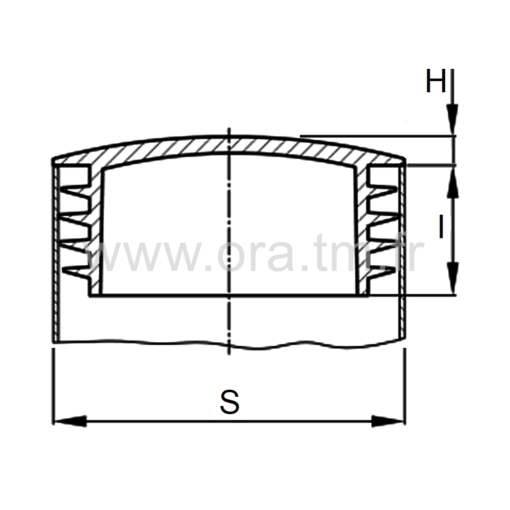 CTZ - COUVRE TUBE A AILETTES - SECTION CYLINDRIQUE