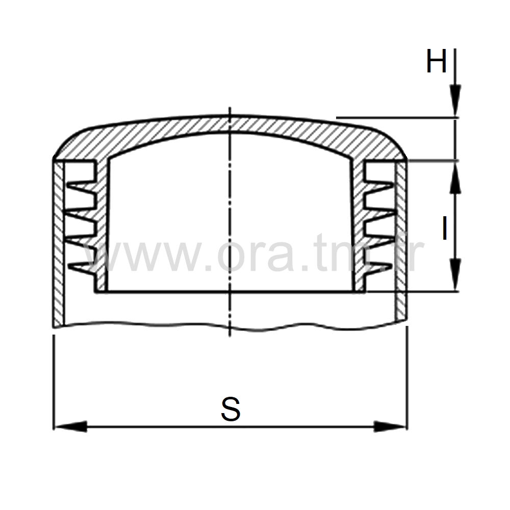 CTZB - COUVRE TUBE A AILETTES - SECTION CYLINDRIQUE