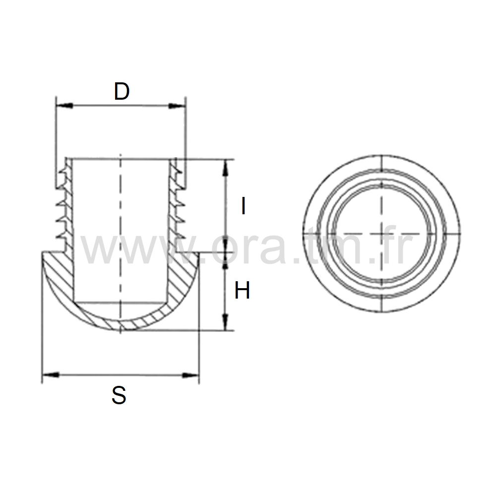 EAHG - EMBOUT A AILETTES - SECTION CYLINDRIQUE