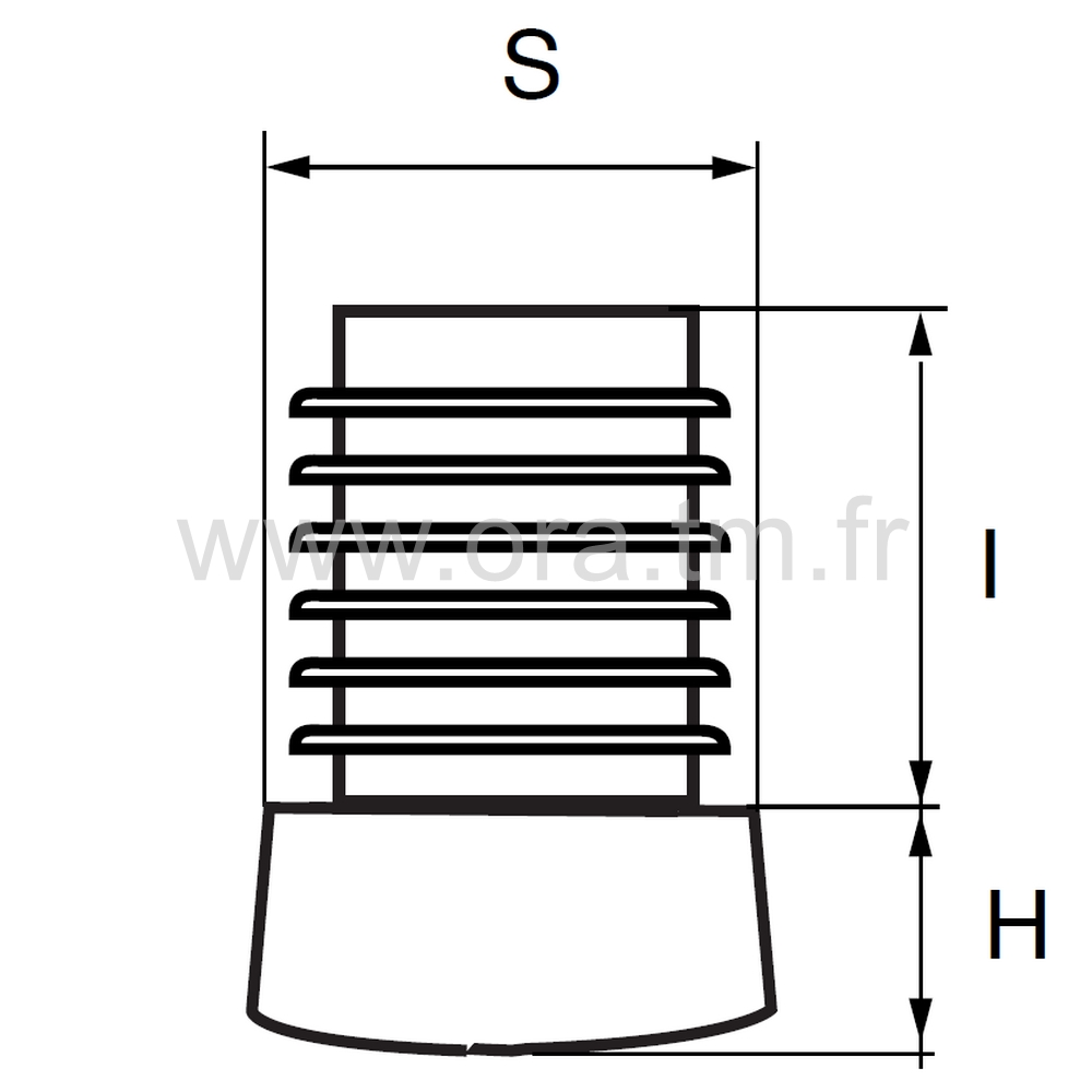EAL - EMBOUT A AILETTES - SECTION CYLINDRIQUE